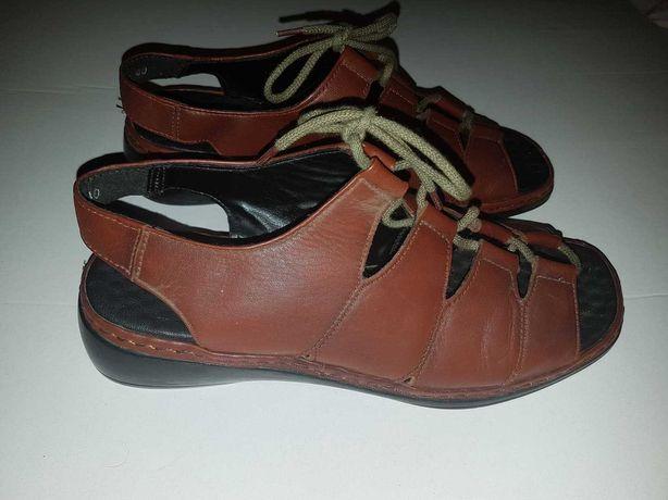 sandały skorzane roz 40 dł wkł 24,5cm