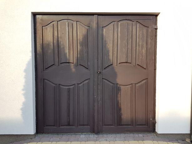 Drzwi garażowe drewniane / Brama garażowa drewniana