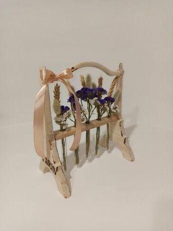 Сухоцветы в пробирках - Эйфелева башня Идеальный подарок-декор