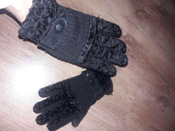 Czarne damskie rekawiczki