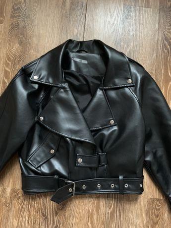 Новая кожаная куртка косуха студии A13