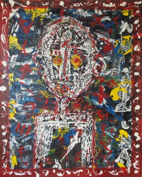 Pintura expressionista - Acrílico em tela - O nórdico