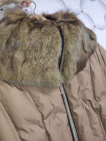 Пуховик (пух/перо) Snow image натуральный мех