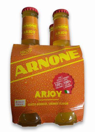 Włoska Lemoniada Gazowana Arnone Arjoy Arancia Pomarańcza - 4 x 200ml