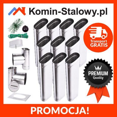 Wkład Kominowy Owlany do Komina Fi120x220/10m/1mm Stalowy na Węgiel