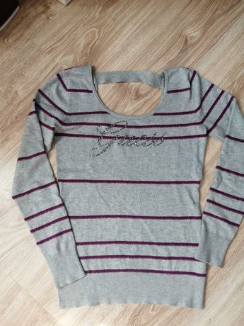 Oryginalny sweter guess s/M odkryte plecy