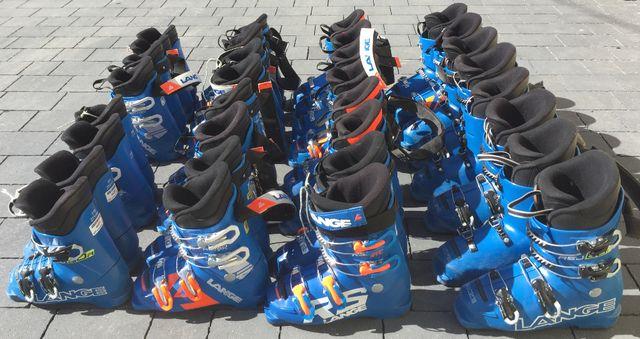 Pakiet butów narciarskich Lange junior, buty narciarskie, 90 zł