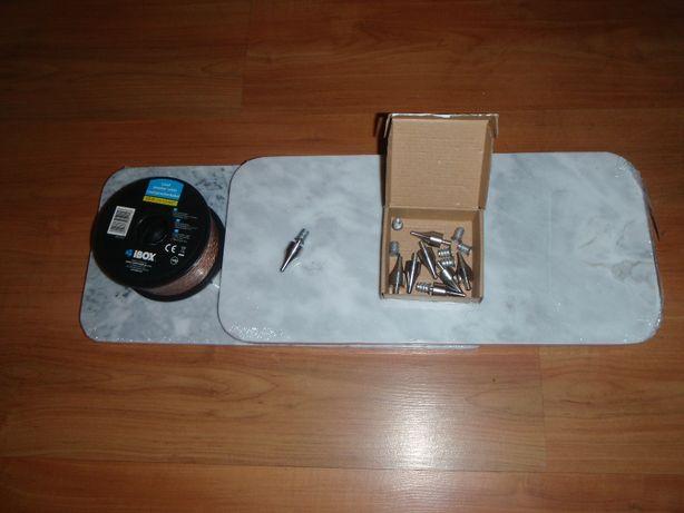 Kolce do kolumn głośnikowych Podkłady marmurowe 10m Kabel audio 1,5mm2
