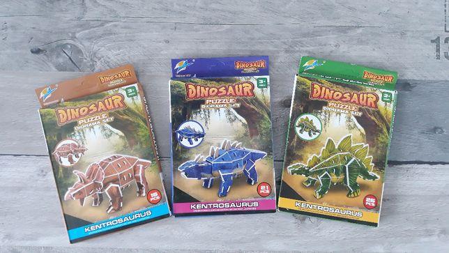 Puzzle 3D przestrzenne dinozaury *DIY KREATYWNE*