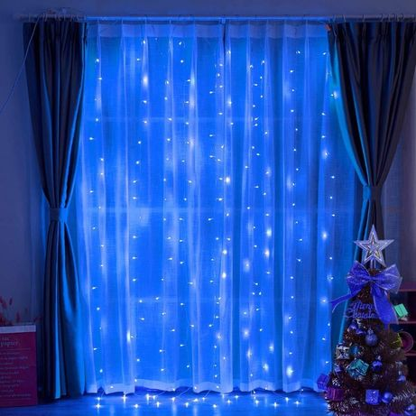 Светодиодная гирлянда LTL штора curtain капля росы 3*3 метра 300 led c