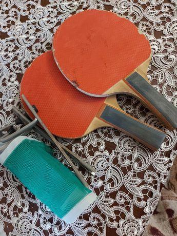 Ракетки и сетка для настольного тенниса