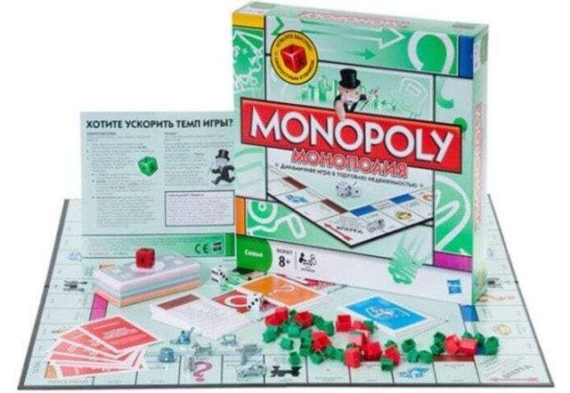 Монополия 6123 классическая с ускоренным кубиком настольная до 8 игрок