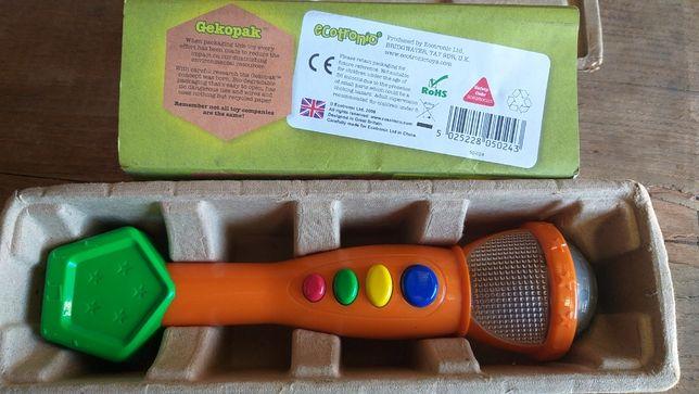 Brinquedo Microfone com sons e luzes