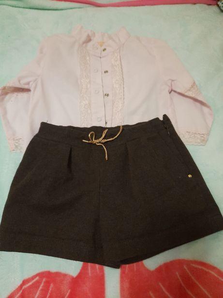 Шорты для девочки zara, рубашка в подарок