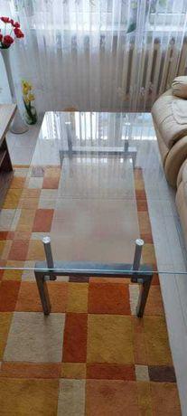 Stół stolik kawowy szklany metalowy