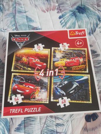 Puzzle Trefl Zygzak MCQueen 4+, 4w1