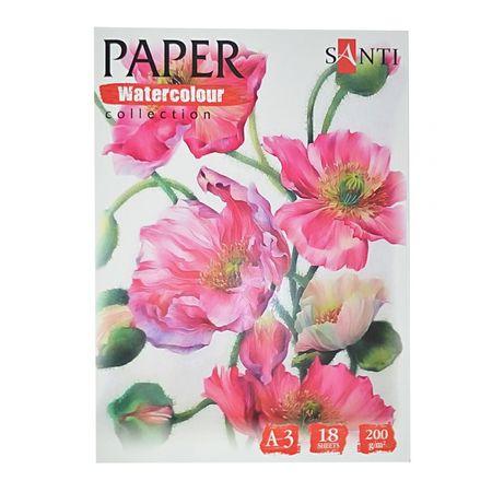 Бумага для рисования А2 А3 А4 А5 акварельная альбом папка акварели