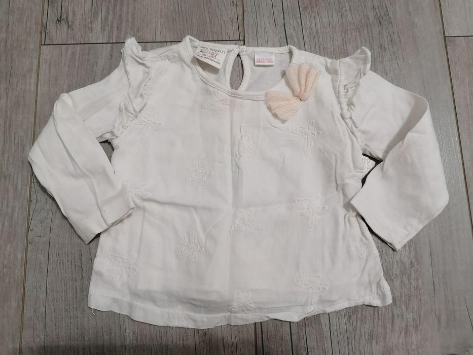 Bluzka bluzeczka Zara z dł rękawem 62-68 3-6 mcy Warszawa - image 1