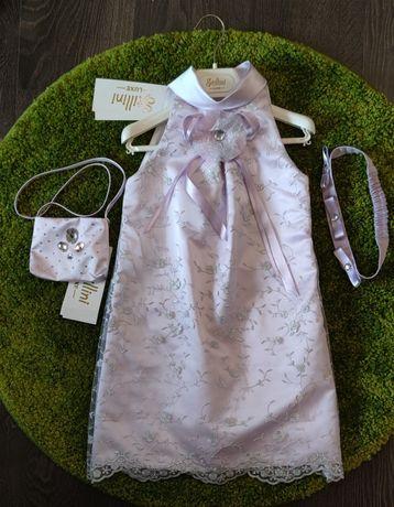 Нарядное платье с аксессуарами 128р