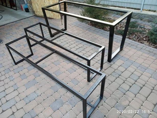 Меблі з металу, ліжко, лофт, ножки стола, лавки, стелажі та ін.