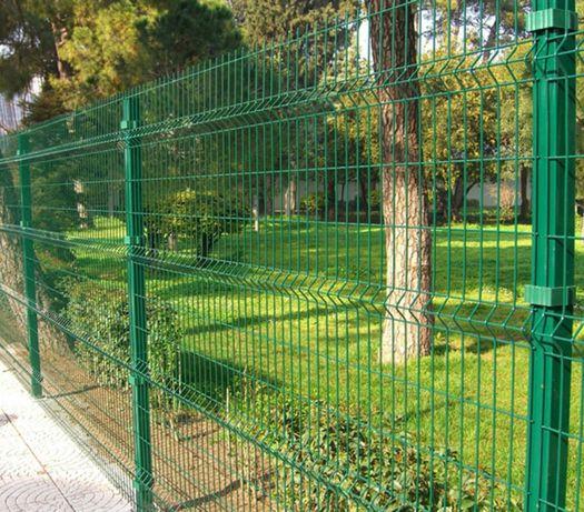 Забор, ограждение панельного типа, евроограждение