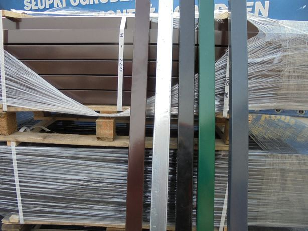 Słupki/Słupek/Panel/Panele ogrodzeniowe 60x40x2mm Ocynk +kolor czarne