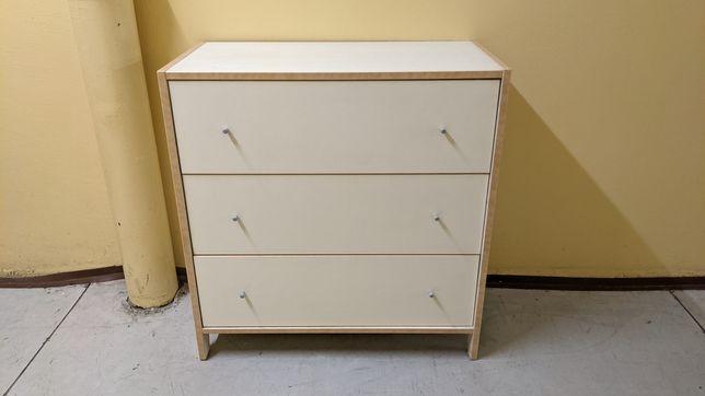 szafka komoda 3 szuflady biała 80cm x 40cm
