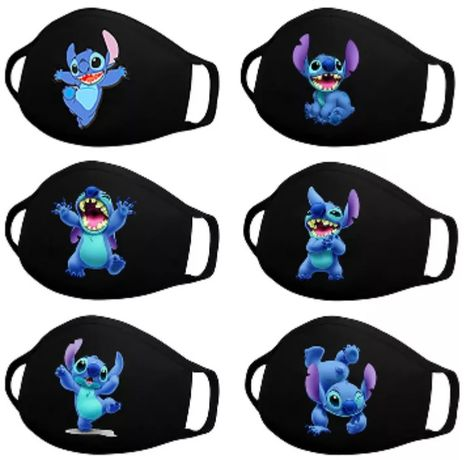 Maska maseczka ochronna czarna Disney postacie Stich