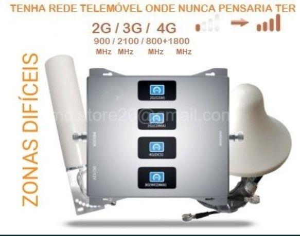 2G+3G+4G  Sem sinal telemóvel? Repetidor/Amplificador  Zonas Difíceis.