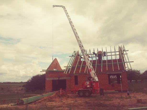 dachy cieśelstwo dekarstwo przebudowy, usługi dźwigowe