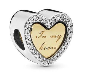 Zawieszka charms Serce 2 w 1 do Pandora srebro 925 AN0042 Ponad 100 wz