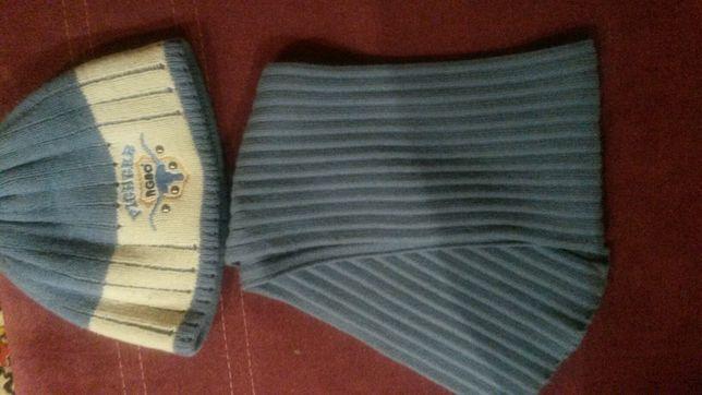 Шапка и шарф , комплект ,зима