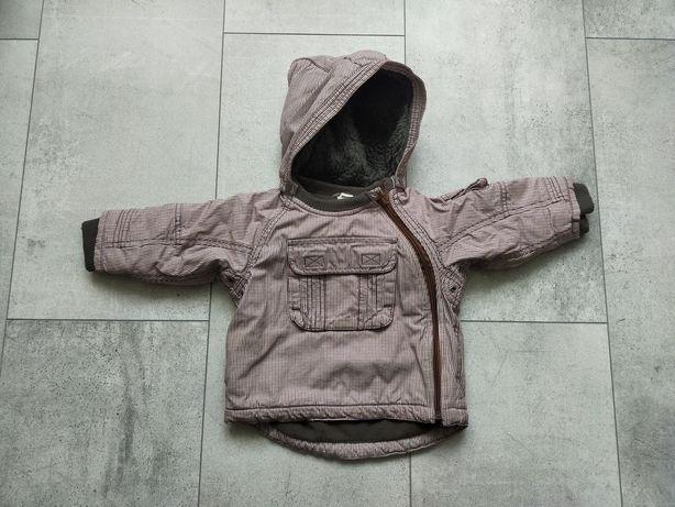 Kurtka, polar r.74, 12m, czapki, rękawiczki, skarpetki