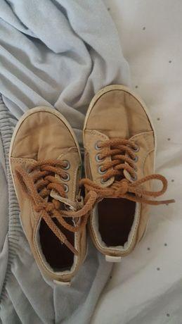Trampki buty tenisówki dziecięce Zara 23 brązowe beżowe