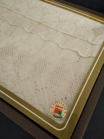 Jogo de cama de algodão bordado