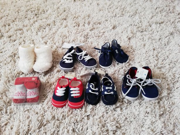 Buty buciki niemowlęce niechodki GAP