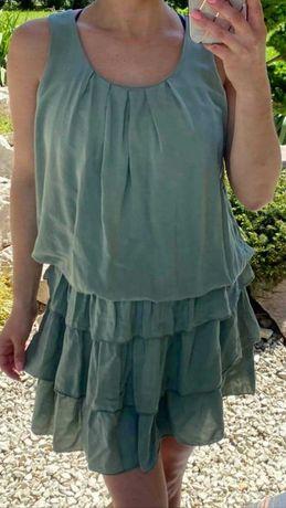 Sukienka letnia. Butelkowa zieleń. R.uniwersalny