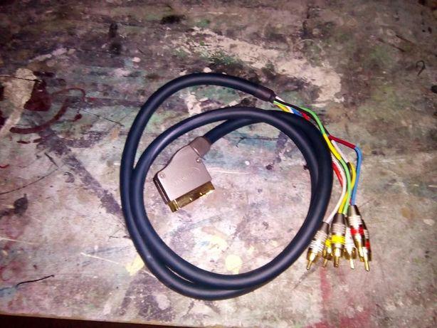 Kabel Euro - 6 x Cinch Wysoka Jakość/Zamiana
