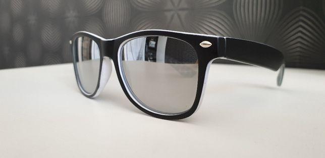 Okulary dziecięce FILTR UV RAY BAN lustrzanki gum