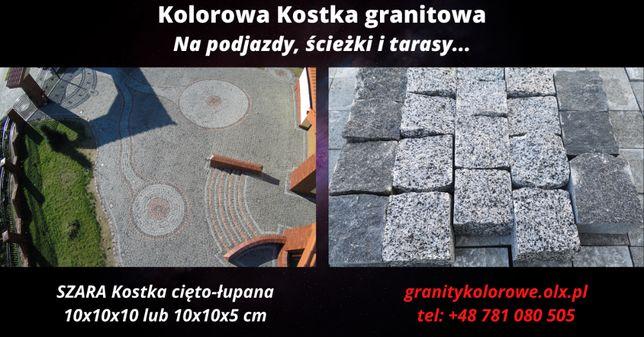 SZARA Kostka granitowa RZĘDÓWKA Sprzedawana w tonach 10x10x5 cm HIT