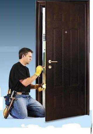 Установка замков в металлические двери г. Кривой Рог. Двери СВ сервис