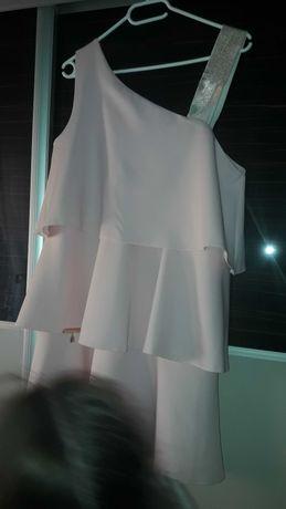 Sukienka Paparazzi Fashion pudrowy róż