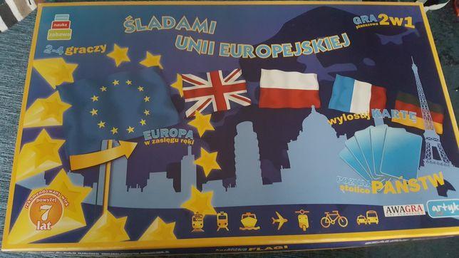 Gra planszowa Śladami Unii Europejskiej  2 w 1