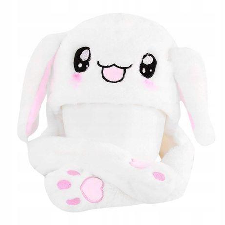 czapka królik z ruchomymi uszami
