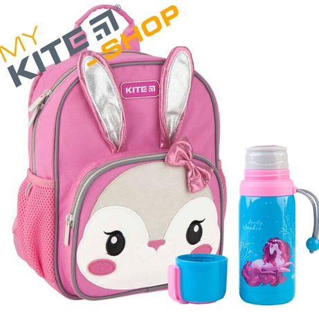 Рюкзак детский дошкольный Kite для девочек и Термос КАЙТ