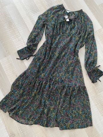 TOPSHOP szyfonowa sukienka midi