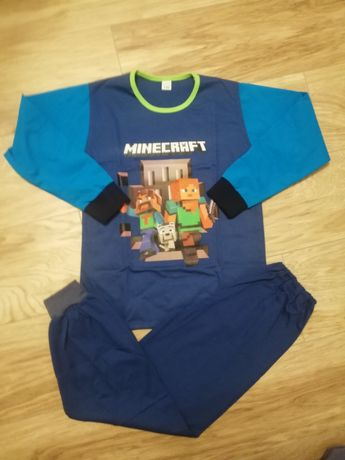 Piżama Minecraft r 122 dlugi rekaw