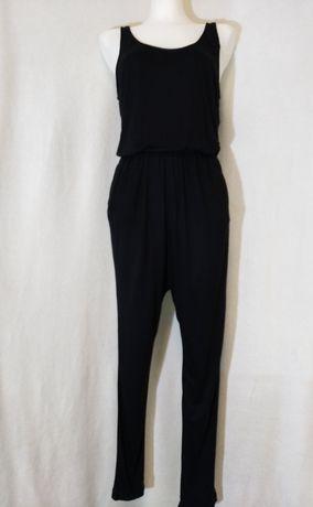 Kombinezon dlugi czarny H&M 36 S 38 M spodnie letni