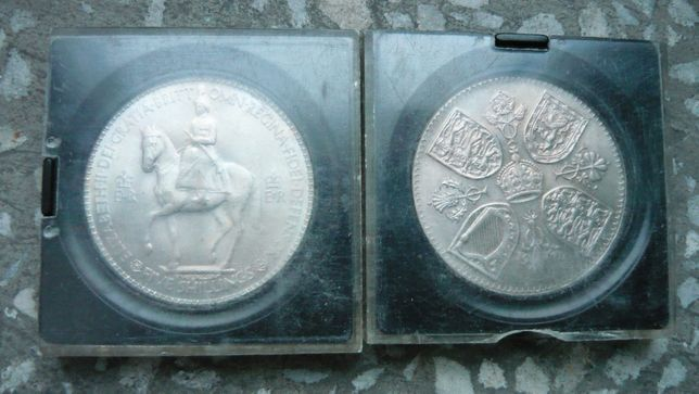 Moneta 1953 Queen Elizabeth II Five 5 Shillings medal