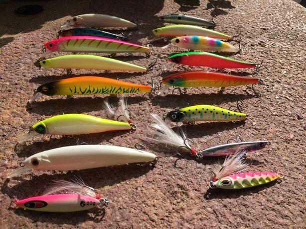 Conjunto 17 Amostras Spinning - Mar - [Para Pesca ao Robalo)